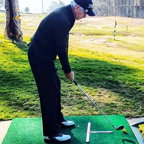 Confident golfer after training with the InsideMove!